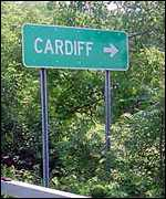 Cardiff - but 4,000 miles from Wales.