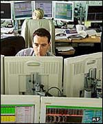 Traders in a Paris bank