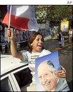 A supporter of Augusto Pinochet