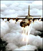 An AC-130 gunship