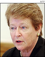 WHO chief Gro Harlem Brundtland, AFP