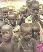 Children suffering from famine in Sudan