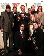 The cast celebrate another award