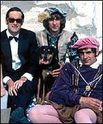 John Cleese, Eric Idle and Terry Jones in Monty Python's Flying Circus