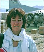 Jane at the old Soviet airbase at Bagram