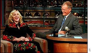 Madonna on The Late Show with David Letterman