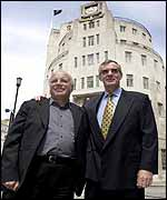 BBC Director General Greg Dyke (left) and Crown Castle's Peter Abery (right)