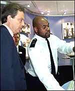 Tony Blair and police officer