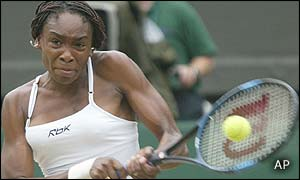 Venus Williams takes the first four games of the second set