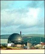 general view of Sellafield plant, Cumbria