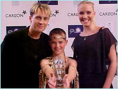 H and Claire were on hand to teach the winner of the modern dancer category, Jamie Greasley, a move or two