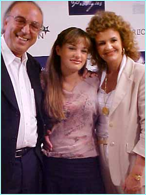 A quick hug off mum and dad for Young Instrumentalist and Overall Prodigy of the Year Nicola  Benedetti