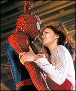 Scene from Spider Man movie