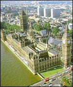 Ariel view of Westminster Palace