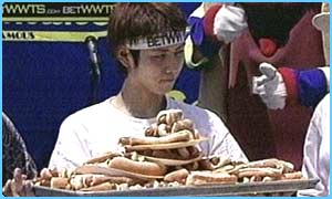 Hot Dog Eating Contest Fat Gut