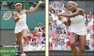 Serena takes the second set 6-3 to lift the Wimbledon trophy
