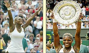 Serena adds the Wimbledon trophy to her French Open crown