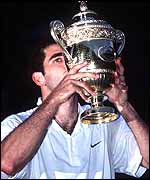 Former champion Pete Sampras