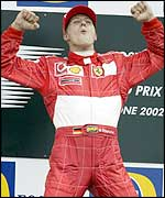 Ferrari's Michael Schumacher claimed his 60th victory at the British Grand Prix
