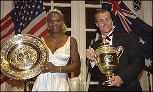 Serena Williams and Lleyton Hewitt both won Wimbledon for the first time