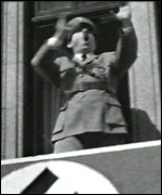 Rik Mayall as Hitler in the anti-euro film