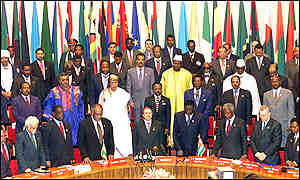 African leaders at 2001 OAU meeting