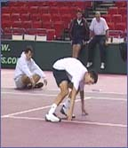 Tim Henman in running mood