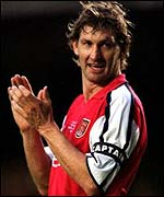 Arsenal captain Tony Adams has announced his retirement
