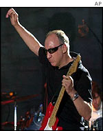 The Who's Pete Townshend during a concert in Marysville, California
