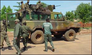 Ugandan forces in southern Sudan