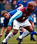 Kevin Keen in action against West Ham
