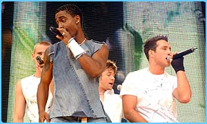 Blue perform at Party in the Park