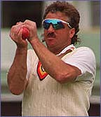 Botham always stood with his hands on knees