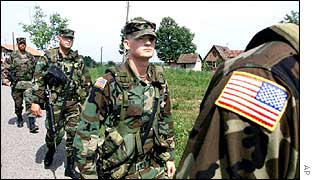 US soldier in Bosnia