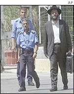 Aryeh Deri outside his prison near Tel Aviv