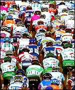 The peloton meander through France