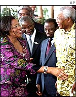 Graca Machel and her husband Nelson Mandela in Durban