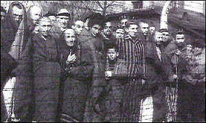Lithuanian Jews in a concentration camp