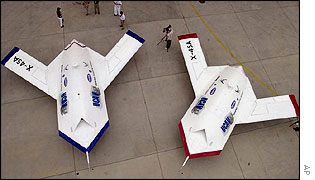 The US Air Force has put on show a futuristic robot plane designed to survive the rigours of the battlefield.