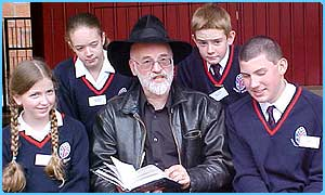 Terry Pratchett meets some of his young fans