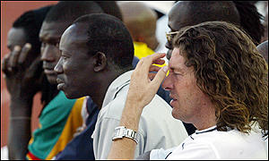 Bruno Metsu on the bench