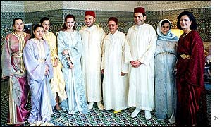 King Mohammed's wedding celebration