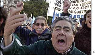 Unemployed protest in Argentina