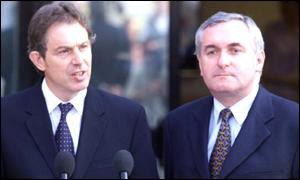 Tony Blair held talks with Irish PM Bertie Ahern