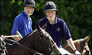 Princes on polo ponies