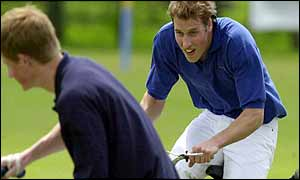 William and Harry play polo