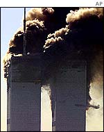 Twin Towers on 11 September
