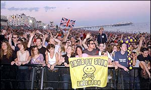 Fatboy Slim crowd