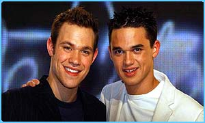 Will Young and Gareth Gates sang a duet for Sport Relief