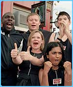 The EastEnders cast prepare to take on Casualty